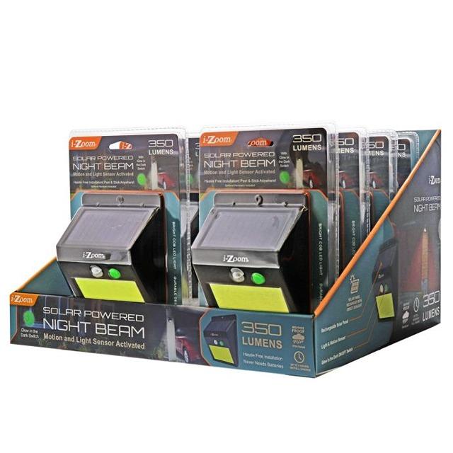 I Zoom Solar Powered Night Beam 160 Lumens New Images Beam